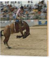 Ridem Cowboy Wood Print