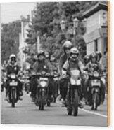 Riders Wood Print