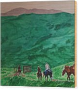 Riders In The Andes Wood Print