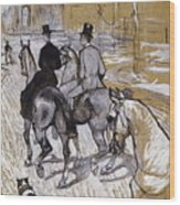 Riders On The Way To The Bois Du Bolougne Wood Print