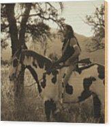 Rides His Horse 3 Wood Print