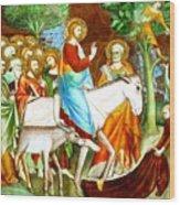 Rides Into Jerusalem Wood Print