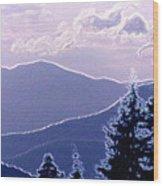 Ridge Layers 2 Pd2  Wood Print