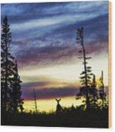 Ridge Sihouette Wood Print