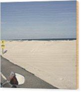 Riding Along Pensacola Beach Wood Print