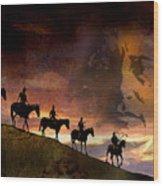 Riding Into Eternity Wood Print