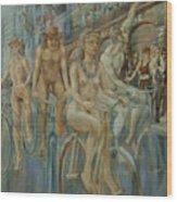 Riding Passed Le Meridien In June Wood Print