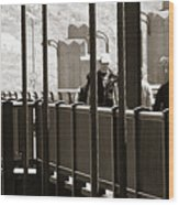 Riding The Golden Gate Wood Print