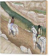 Riding The Ridge Wood Print