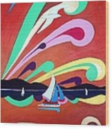 Riding The Wind Wood Print