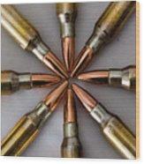 Rifle Ammuntion Wood Print