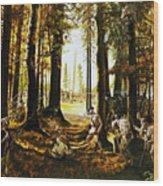 Riflemen At Saratoga Wood Print