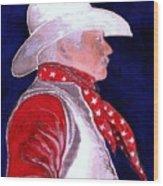 Right Facing Cowboy Wood Print