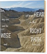 Right Path Wood Print