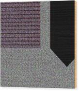 Right-sided Shirt Pocket Wood Print