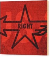 Right Wing Wood Print