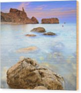 Rijana Beach Mediterranean Sea Wood Print