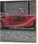 Riley Rmd 1950 Drophead Coupe Wood Print