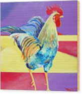 Riley The Rooster Wood Print