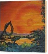 Rim Of Fire     72 Wood Print