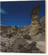 Rim Rock Toadstools Grand Staircase National Monument  Wood Print