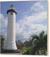 Rincon Puerto Rico Lighthouse Wood Print by Adam Johnson