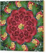 Ring Around The Roses Wood Print