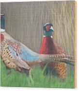 Ring-necked Pheasants Wood Print