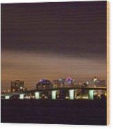 Ringling Bridge And Sarasota Wood Print