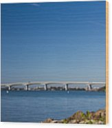 Ringling Bridge, Sarasota, Fl Wood Print