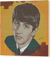 Ringo Starr Wood Print by Suzanne Gee