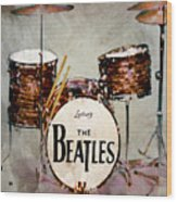 Ringo's Drums Wood Print