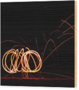 Rings Of Fire Wood Print