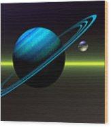 Rings Of Saturn Wood Print