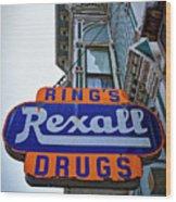 Ring's Rexall Drugs  Wood Print