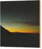 Rinjani Sunset Wood Print