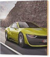 Rinspeed Etos Concept Self Driving Car Wood Print