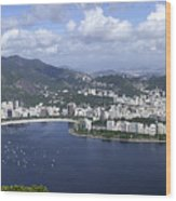 Rio De Janiero Aerial Wood Print