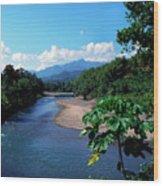 Rio Grande And Blue Mountain Wood Print