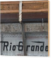 Rio Grande Bridge Wood Print
