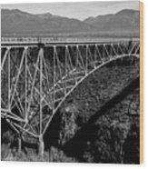 Rio Grande Bridge In New Mexico Wood Print