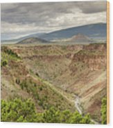 Rio Grande Gorge At Wild Rivers Recreation Area Wood Print