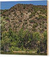 Rio Grande Panorama Pilar New Mexico Wood Print
