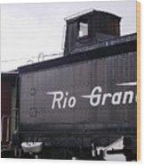 Rio Grande Rail Cars Wood Print