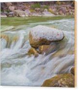 Rio Grande Rocky Flow Wood Print