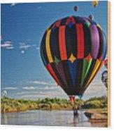 Rio Grande Splash Down, New Mexico Wood Print