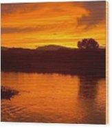 Rio Grande Sunset Wood Print