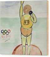 Rio2016 - Shot Putt Wood Print