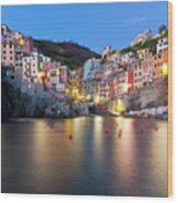 Riomaggiore After Sunset Wood Print