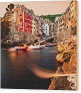 Riomaggiore Cinque Terre Wood Print